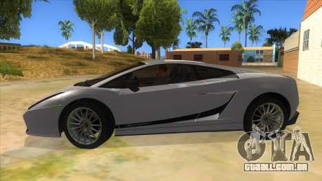 Lamborghini Gallardo 2012 Edition para GTA San Andreas esquerda vista