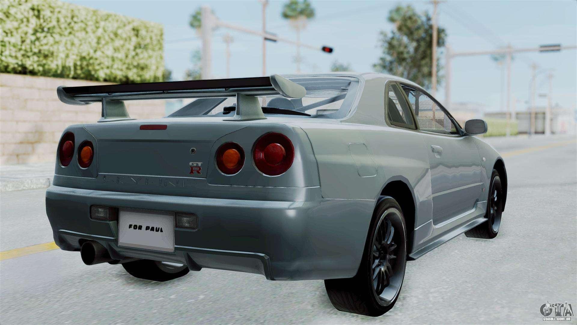 Nissan Skyline GT R R34 2002 Fu0026F4 Para GTA San Andreas .