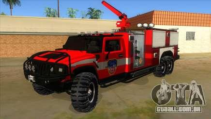 HUMMER H2 Firetruck para GTA San Andreas