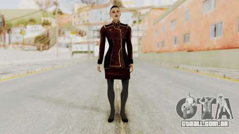 Mass Effect 3 Jack Official Skirt para GTA San Andreas segunda tela