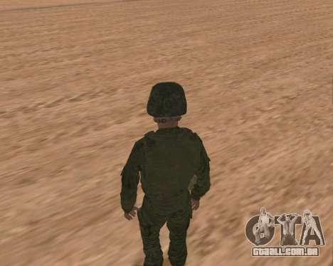 Motorizado privado rifle de tropas para GTA San Andreas sexta tela