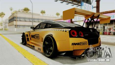 Nissan GT-R Fake Taxi para GTA San Andreas esquerda vista