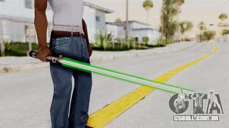 Star Wars LightSaber Green para GTA San Andreas terceira tela