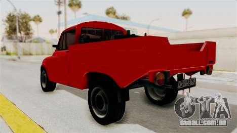 Zastava 850 Pickup para GTA San Andreas esquerda vista