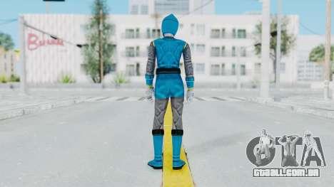 Power Rangers Ninja Storm - Blue para GTA San Andreas terceira tela