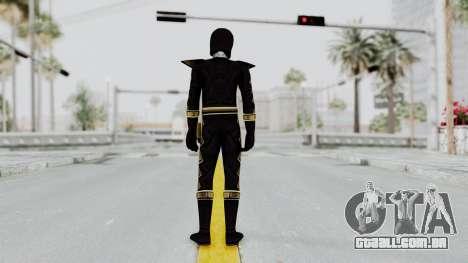 Power Rangers Dino Thunder - Black para GTA San Andreas terceira tela