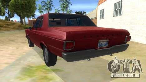 1965 Plymouth Belvedere 2-door Sedan para GTA San Andreas traseira esquerda vista