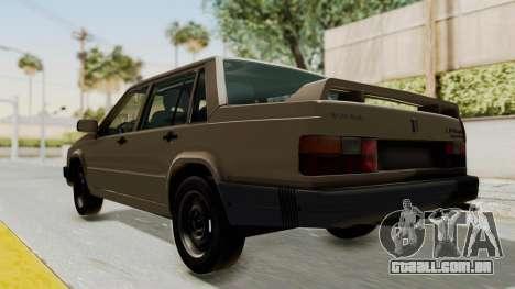 Volvo 740 para GTA San Andreas traseira esquerda vista
