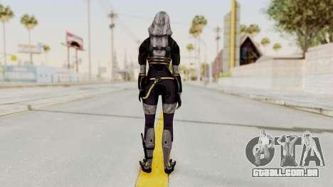 Mass Effect 3 Tali Zorah nar Rayya para GTA San Andreas terceira tela