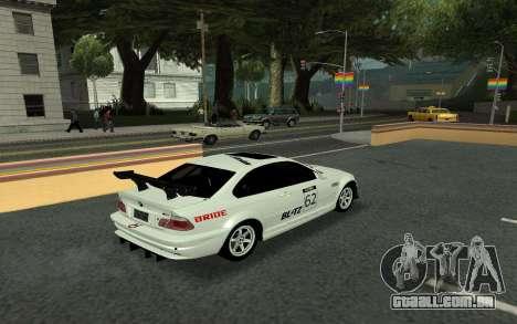 BMW M3 E46 Tunable para GTA San Andreas vista interior