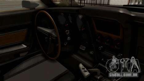 Ford Mustang 1971 Monster Truck para GTA San Andreas vista interior