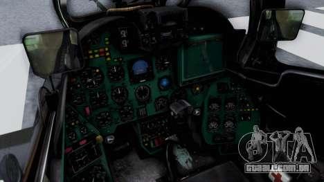 Mi-24V Czech Air Force 7354 para GTA San Andreas vista interior