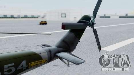 Mi-24V Czech Air Force 7354 para GTA San Andreas traseira esquerda vista