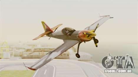 Zlin Z-50 LS v5 para GTA San Andreas traseira esquerda vista