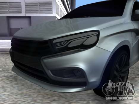 Lada Vesta HD (beta) para GTA San Andreas vista direita