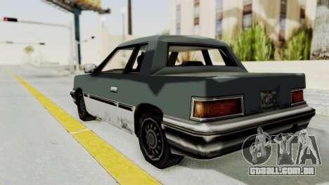 GTA VC Manana para GTA San Andreas traseira esquerda vista