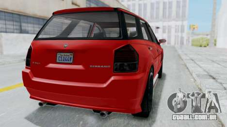 GTA 5 Benefactor Serrano para GTA San Andreas vista direita