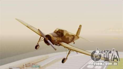 Z-37 Cmelak para GTA San Andreas traseira esquerda vista