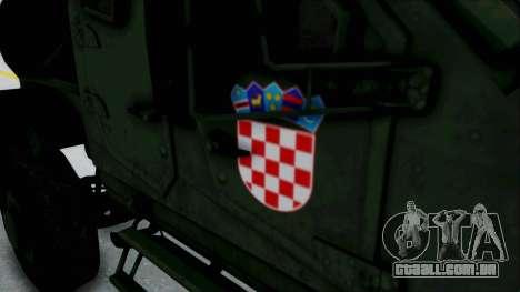Croatian Oshkosh M-ATV Woodland para GTA San Andreas vista interior