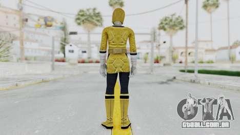 Power Rangers Samurai - Yellow para GTA San Andreas terceira tela