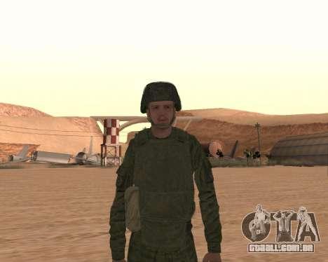 Motorizado privado rifle de tropas para GTA San Andreas sétima tela