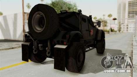 Croatian Oshkosh M-ATV Desert para GTA San Andreas esquerda vista