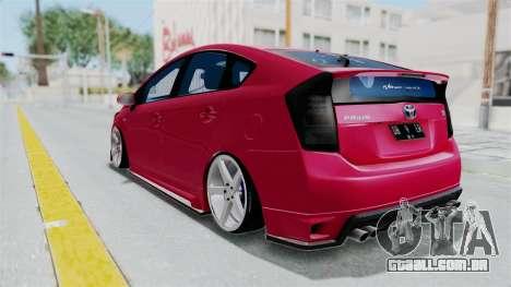 Toyota Prius 2011 Elegant Modification para GTA San Andreas vista direita