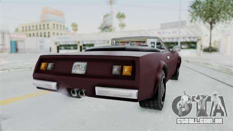 GTA VC Stinger para GTA San Andreas traseira esquerda vista