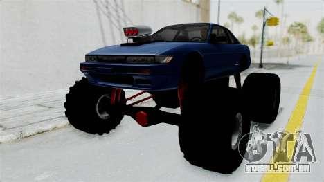 Nissan Silvia S13 Monster Truck para GTA San Andreas traseira esquerda vista