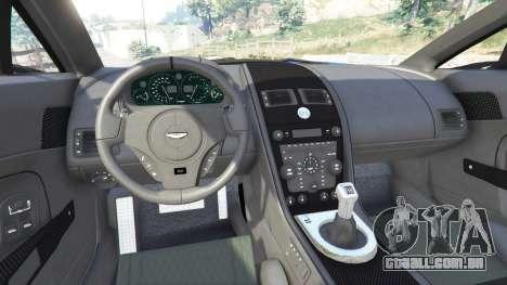 GTA 5 Aston Martin V12 Zagato traseira direita vista lateral