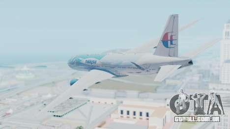 Boeing 777-2H6ER Malaysia Airlines para GTA San Andreas esquerda vista