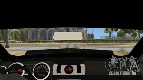 Ford Mustang para GTA San Andreas vista interior