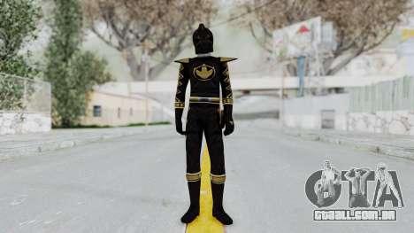 Power Rangers Dino Thunder - Black para GTA San Andreas segunda tela