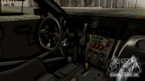Nissan GT-R Fake Taxi para GTA San Andreas vista interior