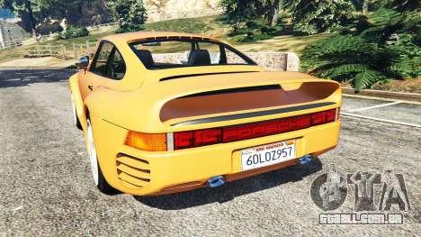 GTA 5 Porsche 959 1987 traseira vista lateral esquerda
