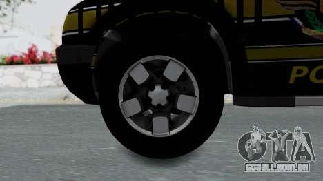 Chevrolet S10 Policia Caminera Paraguaya para GTA San Andreas traseira esquerda vista
