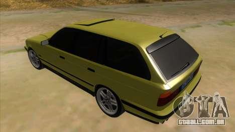 BMW M5 E34 Touring para GTA San Andreas traseira esquerda vista