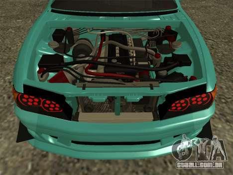 Toyota Chaser JZX100 para GTA San Andreas vista direita