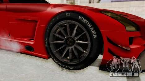 Mercedes-Benz SLS AMG GT3 PJ2 para GTA San Andreas vista traseira