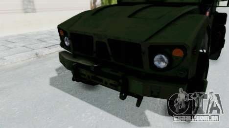 Croatian Oshkosh M-ATV Woodland para GTA San Andreas vista superior