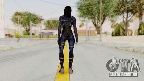 Mass Effect 3 Ashley Williams Ashes DLC Armor para GTA San Andreas terceira tela