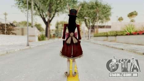 Alice LBL Madness Returns para GTA San Andreas terceira tela