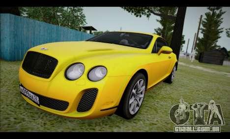 Bentley Continental para GTA San Andreas traseira esquerda vista