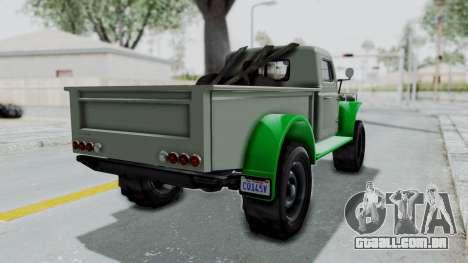 GTA 5 Bravado Duneloader Cleaner IVF para GTA San Andreas esquerda vista