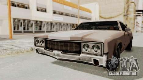 GTA Vice City - Sabre Turbo (Sprayable) para GTA San Andreas vista direita
