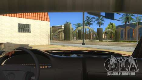 BMW E32 para GTA San Andreas vista interior