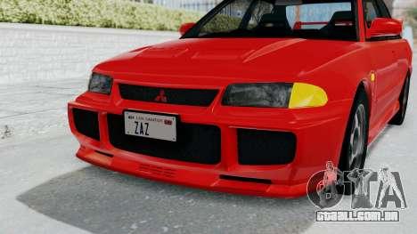 Mitsubishi Lancer Evolution III 1996 (CE9A) para GTA San Andreas vista superior