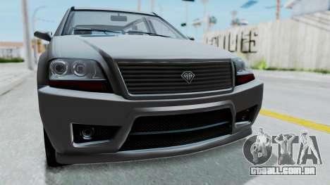 GTA 5 Benefactor Serrano IVF para GTA San Andreas vista traseira