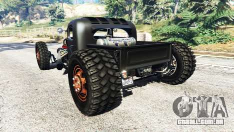 GTA 5 Dumont Type 47 Rat Rod traseira vista lateral esquerda