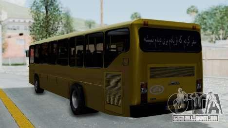 Mercedes-Benz Old Iranian Bus para GTA San Andreas esquerda vista